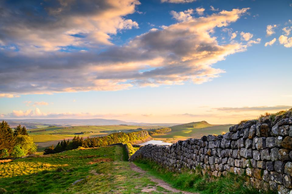 A stunning stretch of Hadrian's Wall in the Northumberland National Park (Getty Images)