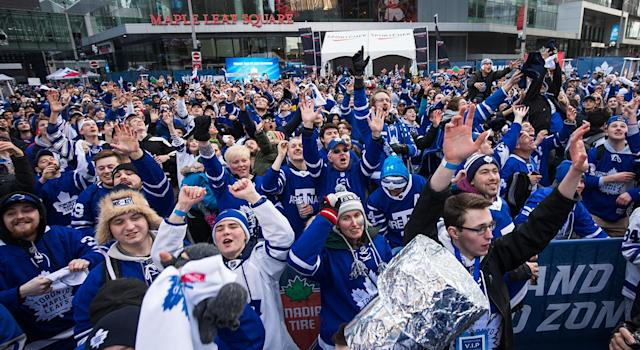 The fans have come out in droves at Maple Leafs Square once again this year. (Photo by Kevin Sousa/NHLI via Getty Images)