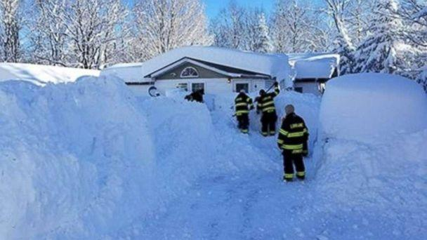 PHOTO: A resident was trapped in her home after over 6 feet of snow fell in the Lorraine, New York, area, Dec. 27, 2017. (Lorraine Volunteer Fire Company Inc.)