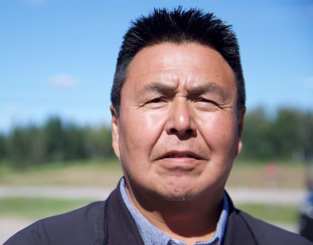 Chief Lloyd Chicot, pictured in 2017. He says the community is looking toward new methods of food sustainability after a fire in 2014 continues to affect the land. (Jimmy Thomson/CBC - image credit)