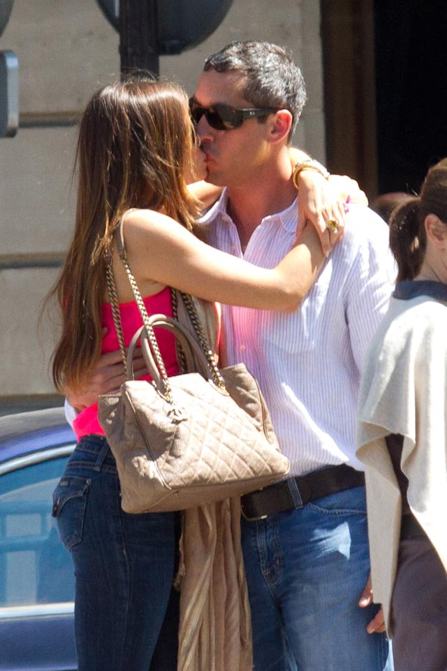 "<p class=""MsoNormal"">Rumors were swirling that Sofia Vergara and boyfriend Nick Loeb got engaged last week in Mexico, but the couple hasn't yet confirmed the news. The globetrotting pair showed their love is the real deal, however, when they shared a smooch at the Rue Royal in Paris. Paris is definitely for lovers! (7/17/2012)</p>"