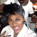 """Danielle Brooks from """"Orange Is The New Black"""" says her glam team """"got me in here looking like a Gorgeous Gangsta. I'm embracing it."""" @daniebb3/Instagram"""