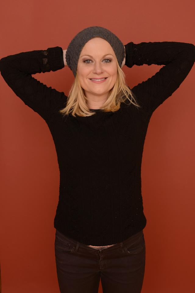 PARK CITY, UT - JANUARY 23:  Actress Amy Poehler poses for a portrait during the 2013 Sundance Film Festival at the Getty Images Portrait Studio at Village at the Lift on January 23, 2013 in Park City, Utah.  (Photo by Larry Busacca/Getty Images)