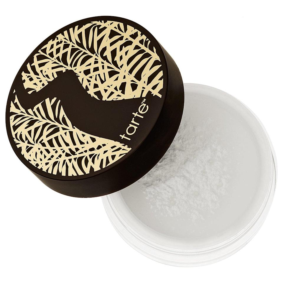 <p>Tarte's vegan products have long been fan favorites, and <span>the brand's finishing powder</span> ($33) is no different. This translucent powder absorbs extra oil and leaves skin with a smooth, matte finish that also locks in your makeup for longer (another example of a finishing and setting powder all in one). </p>