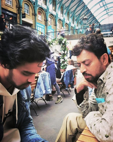 Irrfan Khan and Babil Khan