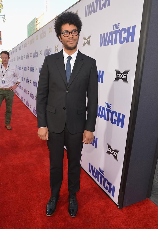 "Richard Ayode attends the Los Angeles premiere of ""The Watch"" on July 23, 2012."