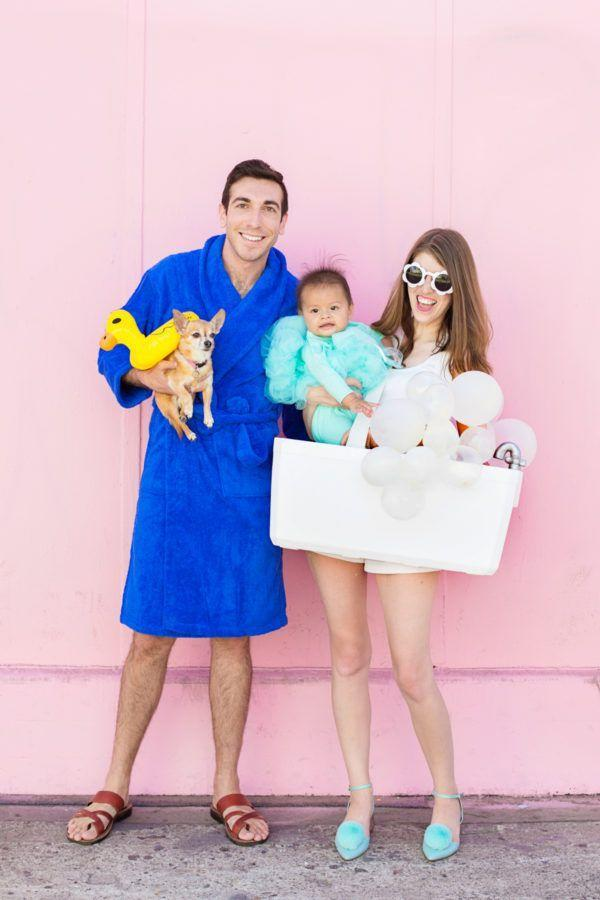 """<p>Rub-a-dub-dub, three family members in a tub! This costume is seriously sweet—just don't forget the classic rubber ducky.</p><p><strong>Get the tutorial at <a href=""""https://studiodiy.com/2017/10/11/diy-bubble-bath-family-costume/"""" rel=""""nofollow noopener"""" target=""""_blank"""" data-ylk=""""slk:Studio DIY"""" class=""""link rapid-noclick-resp"""">Studio DIY</a>.</strong></p><p><a class=""""link rapid-noclick-resp"""" href=""""https://www.amazon.com/Classic-Yellow-Rubber-Ducky-Schylling/dp/B000K21D4K?tag=syn-yahoo-20&ascsubtag=%5Bartid%7C10050.g.29074815%5Bsrc%7Cyahoo-us"""" rel=""""nofollow noopener"""" target=""""_blank"""" data-ylk=""""slk:SHOP RUBBER DUCKIES"""">SHOP RUBBER DUCKIES</a></p>"""