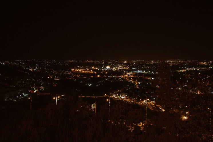 Jerusalem at night (credit: Rosa Park)
