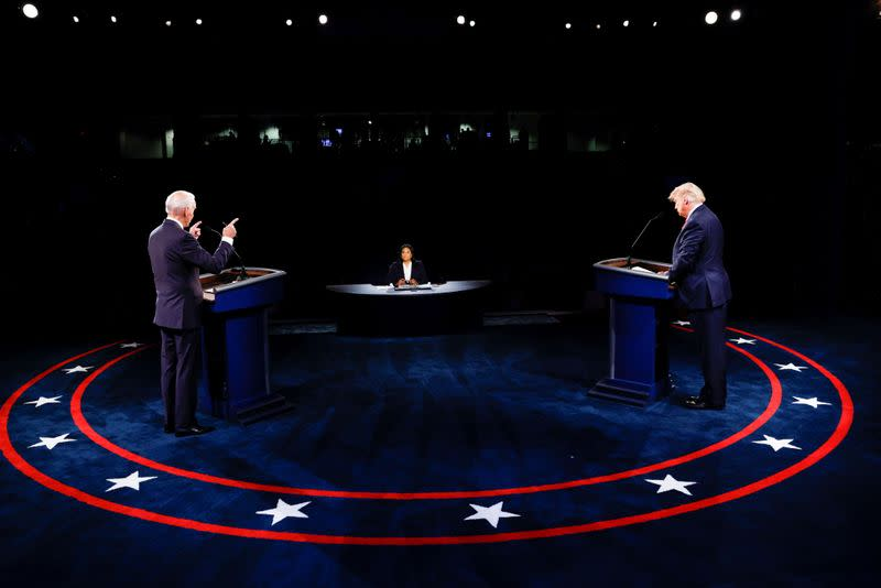 U.S. President Trump and Democratic presidential nominee Biden participate in second debate in Nashville, tennessee