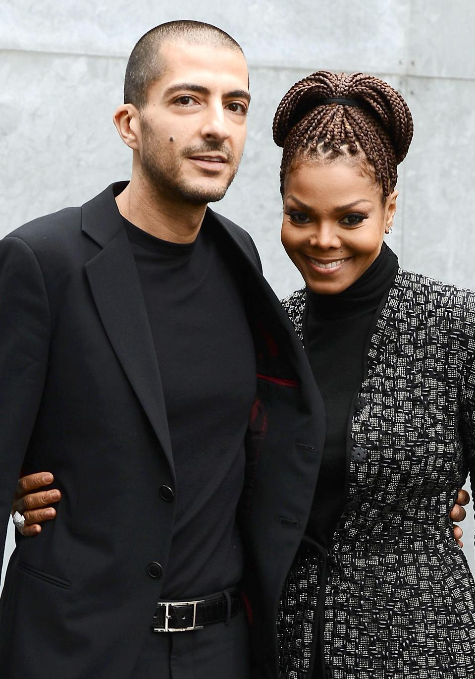 Wissam Al Mana and Janet Jackson attend the Giorgio Armani fashion show during Milan Fashion Week Womenswear Fall/Winter 2013/14 on Feb. 25, 2013, in Milan. (Photo: Venturelli/WireImage)