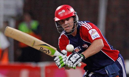 Delhi Daredevils AB de Villiers plays a shot against Deccan Chargers during their 2009 Indian Premier League cricket match in Durban, South Africa, Wednesday May 13, 2009. (AP Photo)