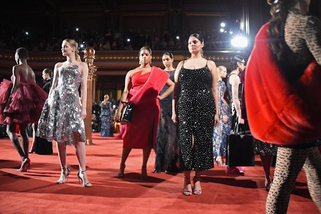 The finale at Christian Siriano's Fall 2018 collection, which coincided with the designer's 10th anniversary, was a beautiful collection that represented his best work yet, both in the design and inclusive casting. (Photo: Getty Images)