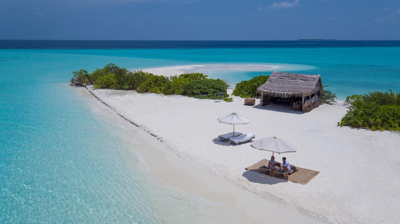 "<p>Set in the Baa Atoll UNESCO Biosphere Reserve of the picturesque Maldives, <a href=""https://www.soneva.com/soneva-fushi/"" target=""_blank"" class=""ga-track"" data-ga-category=""Related"" data-ga-label=""https://www.soneva.com/soneva-fushi/"" data-ga-action=""In-Line Links"">Soneva Fushi</a> should be on every jetsetter's list of dream getaways. Every villa is set on the sunrise and sunset sides of the island, giving incredible views of the white-sand beaches and truly crystal clear water. Insider tip: if you want privacy, go for the sunrise side! You'll have an untouched panoramic view of the horizon.</p>"