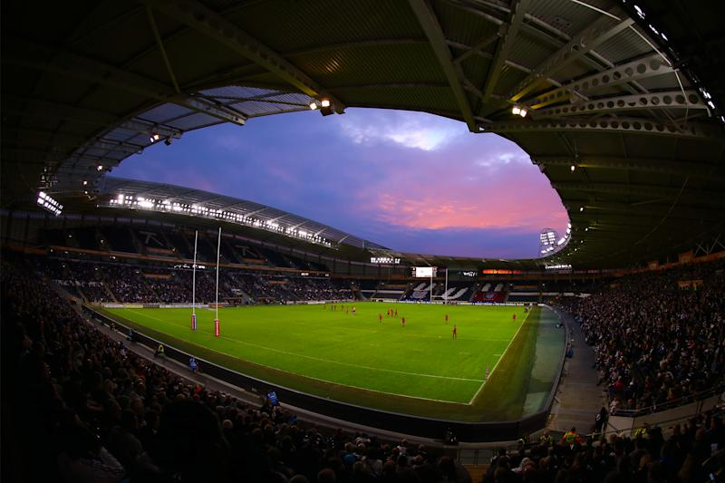 HULL, ENGLAND - JUNE 08: A general view of the KCOM Stadium during the Betfred Super League match between Hull FC and Salford Red Devils at KCOM Stadium on June 8, 2018 in Hull, England. (Photo by Ashley Allen/Getty Images)