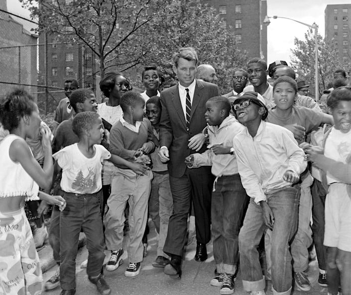 Attorney General Robert Kennedy visiting a summer reading program in Harlem, N.Y., August 1963. (Photo: Bettmann Archive/Getty Images)