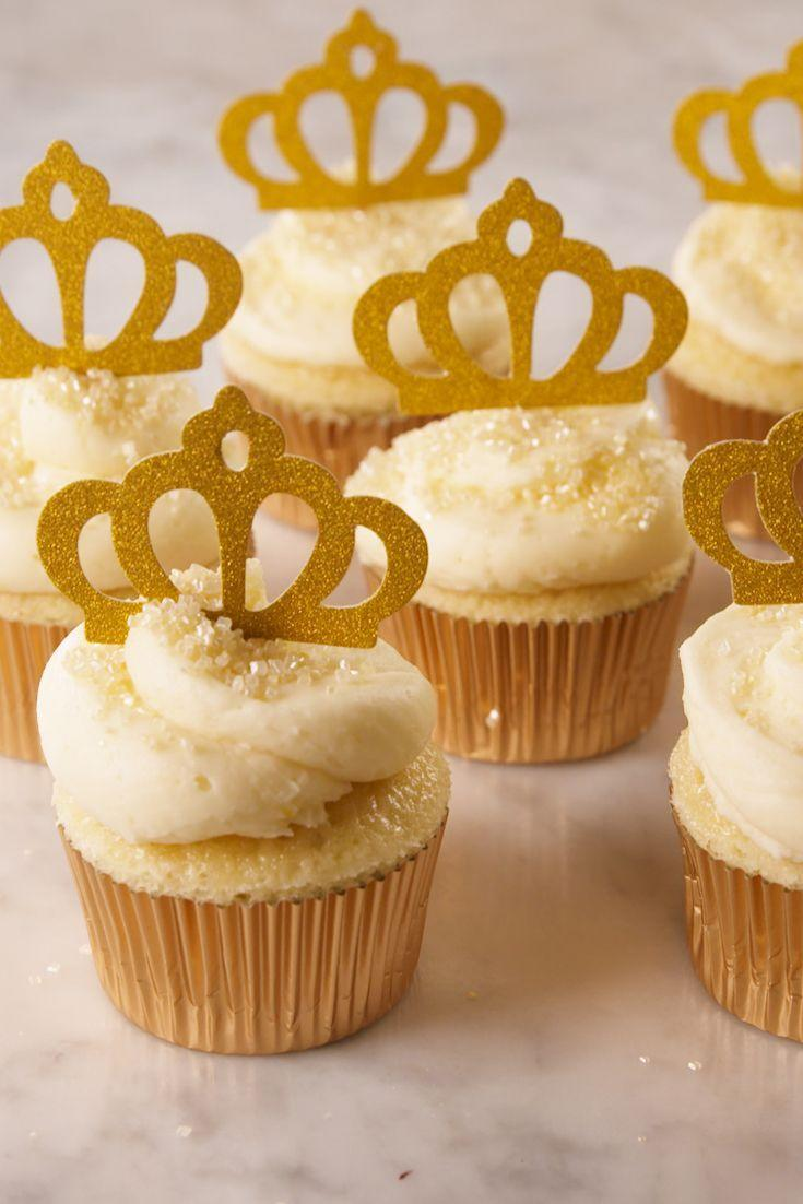 """<p>Celebrate like royalty with these Royal Wedding-inspired cupcakes.</p><p>Get the recipe from <a href=""""https://www.delish.com/cooking/recipe-ideas/a19687114/markle-sparkle-cupcakes-recipe/"""" rel=""""nofollow noopener"""" target=""""_blank"""" data-ylk=""""slk:Delish"""" class=""""link rapid-noclick-resp"""">Delish</a>.</p>"""