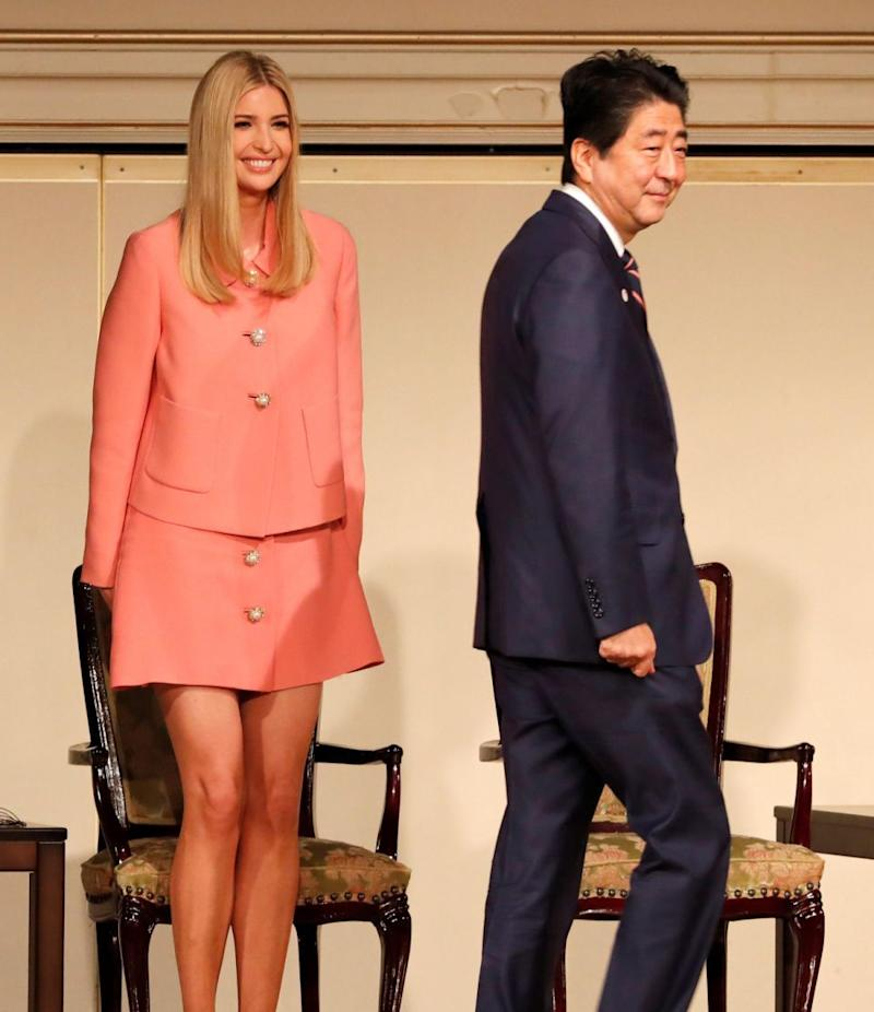 Ivanka Trump's miniskirt has been deemed 'inappropriate' for her Japanese visit. Photo: Getty Images