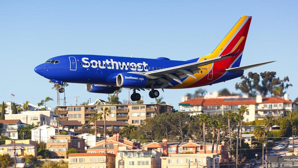 San Diego, United States – April 13, 2019: Southwest Airlines Boeing 737-700 airplane at San Diego airport (SAN) in the United States.