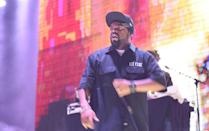 """""""Rock and roll is a spirit,"""" said rapper Ice Cube, pictured performing in 2014 (AFP Photo/Jason Merritt/TERM)"""