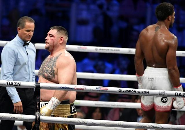 Andy Ruiz says he failed to train seriously for Saturday's rematch with Anthony Joshua, blaming months of partying for his poor condition (AFP Photo/Fayez Nureldine)
