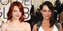 <p>Emma and Andrew Garfield called it quits after four years together. Six months later, the actress arrived at the Met Gala looking almost unrecognizable with chocolate brown hair. Enough said.</p>