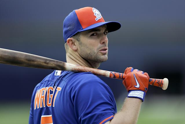 David Wright was a surprise participant in Mets batting practice. (AP Photo)