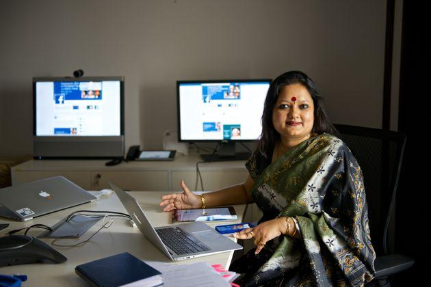 Ankhi Das, Public Policy Director, Facebook India and South & Central Asia, during an interview at her office on March 3, 2014 in New Delhi.