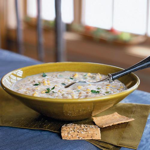 """<p>You can have this chicken and corn chowder on the table in less than 30 minutes. Sounds too good to be true, right? We guess you will just have to try it to find out.</p> <p> <a rel=""""nofollow noopener"""" href=""""http://www.myrecipes.com/recipe/quick-chicken-corn-chowder"""" target=""""_blank"""" data-ylk=""""slk:View Recipe: Quick Chicken-Corn Chowder"""" class=""""link rapid-noclick-resp"""">View Recipe: Quick Chicken-Corn Chowder</a></p>"""