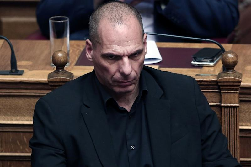 Germany's Finance Minister Wolfgang Schaeuble will meet Monday in Berlin with his Greek counterpart Yanis Varoufakis, shown here on June 5, 2015, amid contentious negotiations between Greece and its creditors, the German ministry says