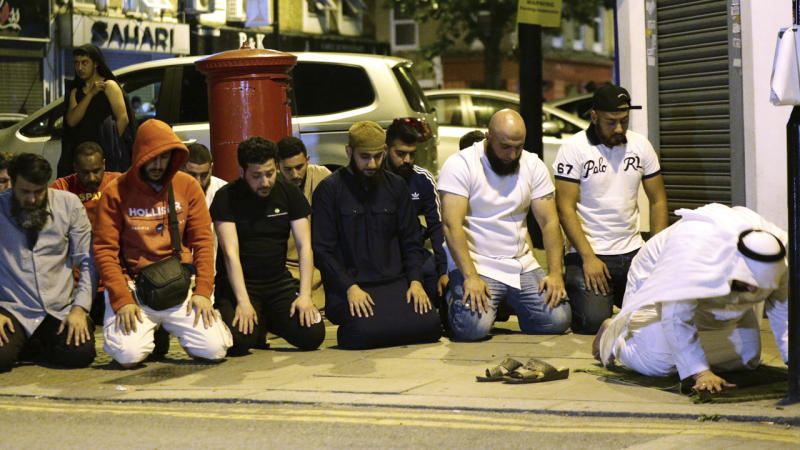 May says thoughts with mosque victims