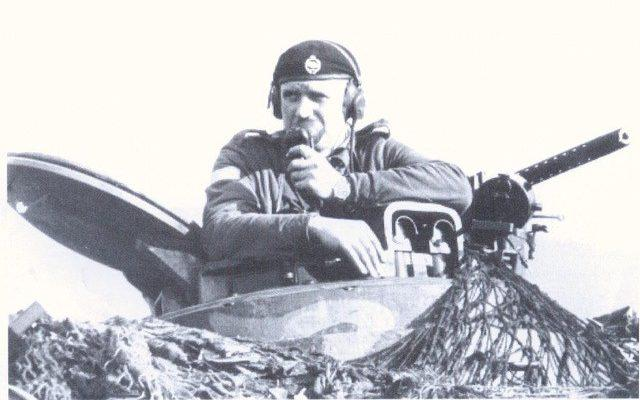Corporal (later Lt Col) Tony Cornish in command of his Centurion in the late 1950s - Paul Cornish