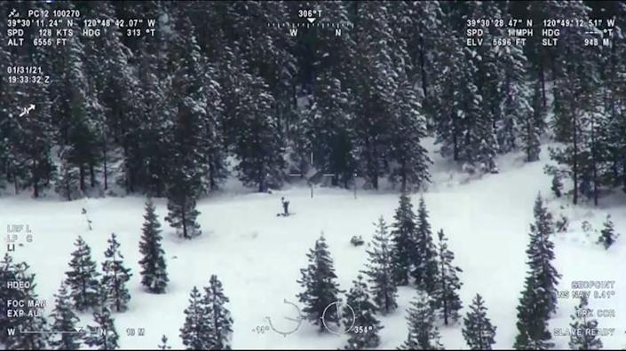 A man who became stranded in the Sierra Nevada during a major snowstorm was found alive a week later by CHP air operations.