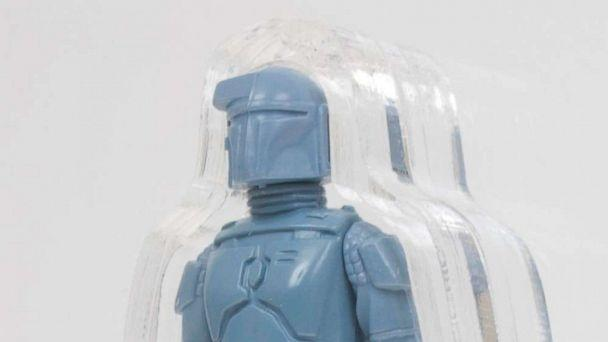 PHOTO: A rare, unpainted prototype of a rocket-firing Boba Fett action figure is for sale for an asking price of $225,000. (Zach Tann)