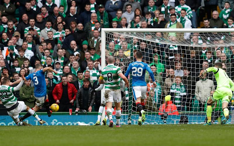 Clint Hill, shown here scoring the 87th minute equaliser last month, is in a race to be fit - Credit: Russell Cheyne/REUTERS