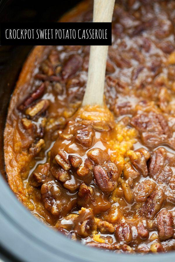 """<p>Headed to a Thanksgiving potluck? Don't show up empty handed. This sweet potato casserole will guarantee you an invite back.</p><p><strong>Get the recipe at <a href=""""http://www.chelseasmessyapron.com/slow-cooker-sweet-potato-casserole/"""" rel=""""nofollow noopener"""" target=""""_blank"""" data-ylk=""""slk:Chelsea's Messy Apron"""" class=""""link rapid-noclick-resp"""">Chelsea's Messy Apron</a>.</strong> </p>"""