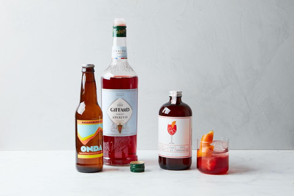 A few of my favorite bitter ingredients for making nonalcoholic aperitivi.