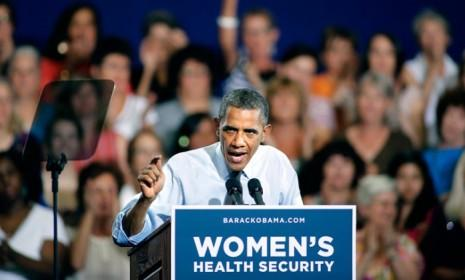 President Obama speaks about the economy and how ObamaCare has helped women during a campaign stop in Denver, Colo., on Aug. 8.