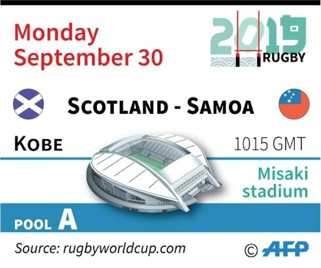 Match on Monday, September 30, at the Rugby World Cup 2019 in Japan. (AFP Photo/Laurence SAUBADU)
