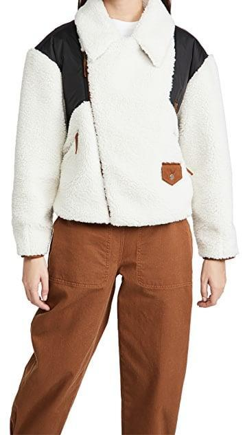 <p><span>Frame Fleece Mix Jacket</span> ($448)</p>