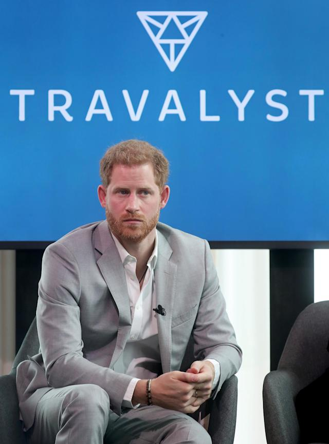 Prince Harry at the launch of the 'Travalyst' platform in Amsterdam in September (Getty)