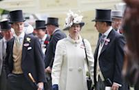 <p>Anne wore this cream coat with a striking collar in 2016, and it could be a great re-wear for her this year, with its simple but bold design. (PA)</p>