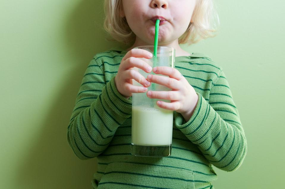 Children who drink full-fat milk are less likely to be overweight, research has suggested (Getty)