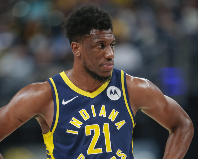 "<a class=""link rapid-noclick-resp"" href=""/nba/players/4290/"" data-ylk=""slk:Thaddeus Young"">Thaddeus Young</a> is reportedly leaving Indiana for the <a class=""link rapid-noclick-resp"" href=""/nba/teams/chicago/"" data-ylk=""slk:Chicago Bulls"">Chicago Bulls</a>. (Getty)"