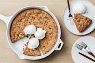 """This sharable cookie has all the flavors of a latte. And chocolate. Lots of hot, melting milk chocolate. It's a pure showstopper; we bet you'll never make individual chocolate chip cookies again. <a href=""""https://www.epicurious.com/recipes/food/views/cinnamon-chocolate-chunk-skillet-cookie?mbid=synd_yahoo_rss"""" rel=""""nofollow noopener"""" target=""""_blank"""" data-ylk=""""slk:See recipe."""" class=""""link rapid-noclick-resp"""">See recipe.</a>"""