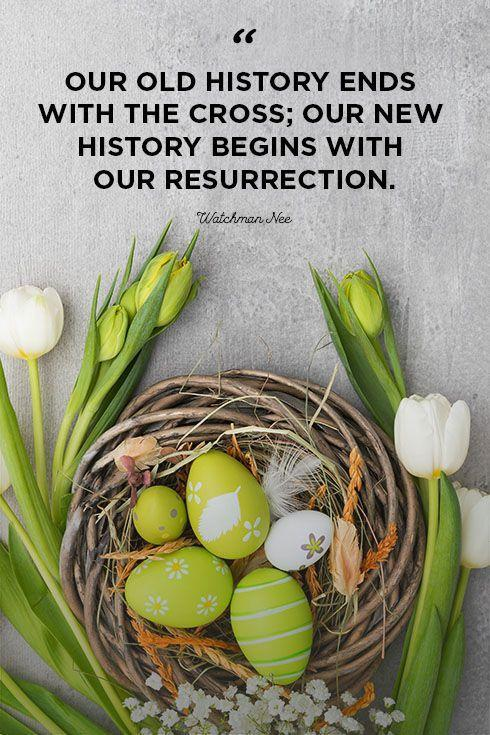"""<p>""""Our old history ends with the cross; our new history begins with our resurrection.""""</p>"""