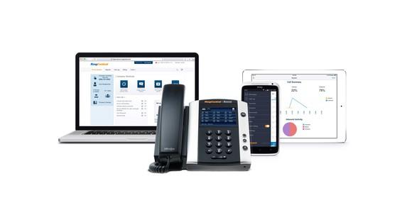 RingCentral's platform across various devices.
