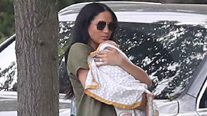 Meghan Markle with baby Archie