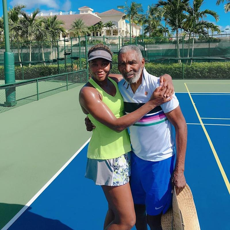 Venus Williams Shares Photo with Her and Serena's Dad: 'He Never Misses a Home Practice'