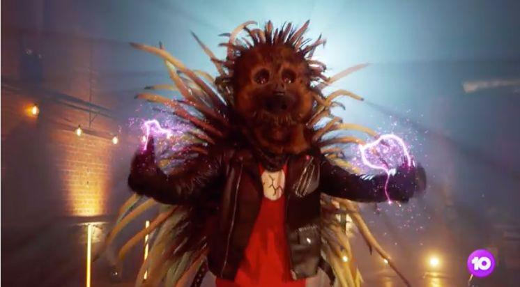 The Echidna on 'The Masked Singer Australia' (Photo: Channel 10)