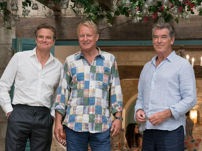 Colin Firth, Stellan Skarsgård and Pierce Brosnan in 'Mamma Mia: Here We Go Again' (© 2018 Universal City Studios Productions LLLP. All Rights Reserved.)